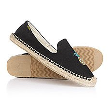 Эспадрильи женские Soludos Smoking Slipper Embroidery Pineapple/Black