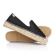 Эспадрильи женские Soludos Platform Smoking Slipper Fashion Calf Hair/Black