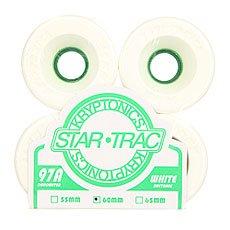Колеса для лонгборда Kryptonics Star Trac White/Green 97A 60 mm