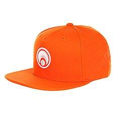 Бейсболка с прямым козырьком Osiris Snap Back Hat Standard Orange/White