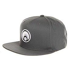 Бейсболка с прямым козырьком Osiris Snap Back Hat Standard Charcoal/White