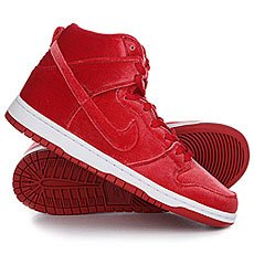 Кеды высокие Nike Dunk High Premium Sb Gym Red