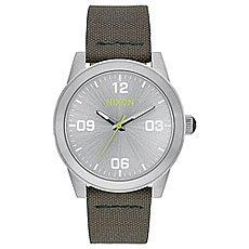 Кварцевые часы женские Nixon G.i. Nylon Silver/Surplus