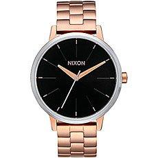 Кварцевые часы женские Nixon Kensington Rose Gold/Black Sunray