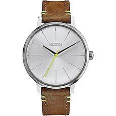 Кварцевые часы женские Nixon Kensington Leather Brown/Lime