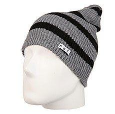 Шапка носок Neff Daily Stripe Beanie Grey/Black