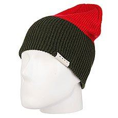 Шапка носок Neff Duo Beanie Green/Red