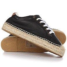 Кеды низкие женские Soludos Platform Tennis Sneaker Black