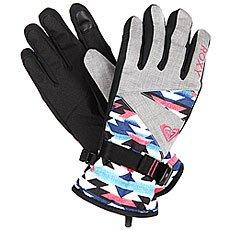 Перчатки сноубордические женские Roxy Jetty Gloves Geofluo Blue Print