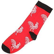 Носки средние женские Запорожец Петух Большой Красный