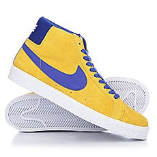 Кеды высокие Nike Sb Blazer Zoom Mid Tour Yellow/Deep Night-White