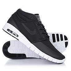 Кроссовки Nike Stefan Janoski Max Mid Black/Metallic Silver