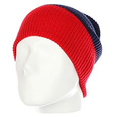 Шапка носок Neff Trio Beanie Red/Navy/White