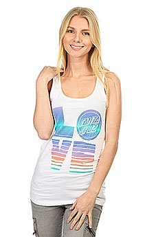 Майка женская Santa Cruz Sc Love Tank White