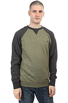 Толстовка свитшот Quiksilver Everydaycrew Four Leaf Clover Hea