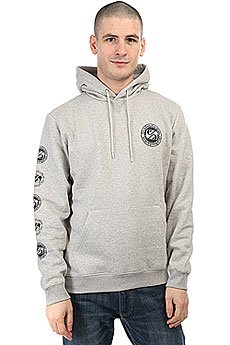 Толстовка кенгуру Quiksilver Keemoss Light Grey Heather
