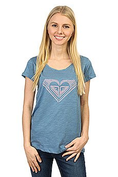 Футболка женская Roxy Bobbytouchmex J Tees Captains Blue