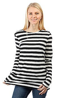 Лонгслив женский Roxy Zarauz Beat Str Stephanies Stripe Co Black
