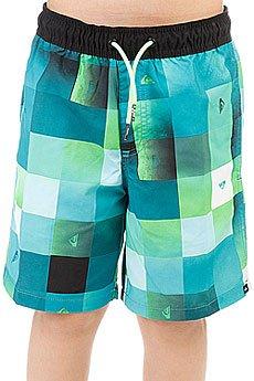Шорты пляжные детские Quiksilver Checkmarkvly15 Viridian Green