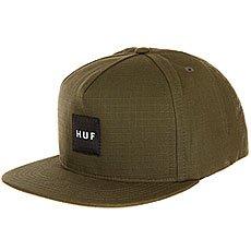 Бейсболка с прямым козырьком Huf Star Box Logo Green