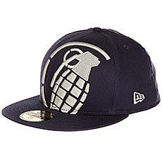 Бейсболка с прямым козырьком Grenade New Era Big Crop Blue