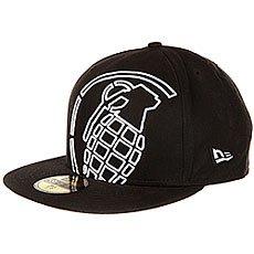 Бейсболка с прямым козырьком Grenade New Era Big Crop Black