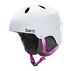 Шлем для сноуборда детский Bern Team Diabla Satin White/Black Cordova Earflaps
