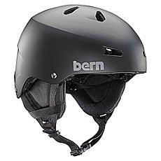 Шлем для скейтборда Bern Team Macon Matte Black/Black Cordova Earflaps