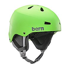 Шлем для скейтборда Bern Team Macon Neon Green/Black Cordova Earflaps