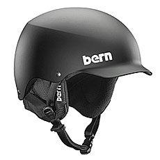 Шлем для скейтборда Bern Team Baker Matte Black/Black Cordova Earflaps