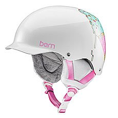 Шлем для сноуборда женский Bern Team Muse Satin White Ice Cream Cone/White Cordova