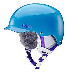 Шлем для сноуборда женский Bern Team Muse Satin Ocean Blue/White Cordova Earlaps