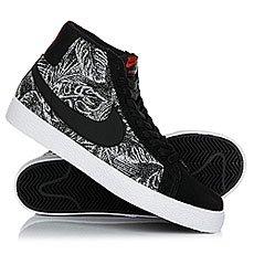 Кеды высокие Nike Sb Blazer Zoom Mid Black/White
