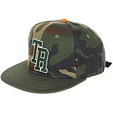 Бейсболка с прямым козырьком Terror Snow Snapback Green