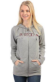 Толстовка классическая женская Burton Her Logo Fz Heather Grey