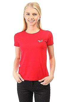 Футболка женская классическая MyTarget Logo Красная