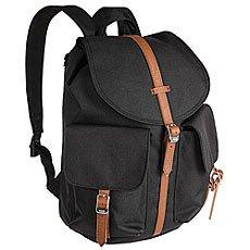 Рюкзак туристический женский Herschel Dawson Black/Tan Synthetic Leather