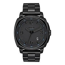 Кварцевые часы Nixon Charger Chrono Leather Black