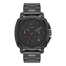 Кварцевые часы Nixon Charger Chrono Leather Black/Light Brown