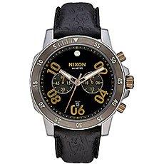 Кварцевые часы Nixon Ranger Chrono Leather Gold/Black