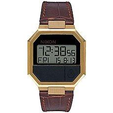 Электронные часы Nixon Re Run Leather Black/Brown