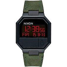 Электронные часы Nixon Re Run Leather Black/Camo