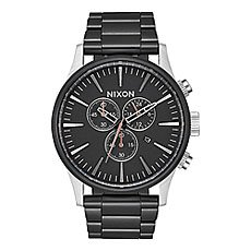 Кварцевые часы Nixon Sentry Chrono Black/Surplus