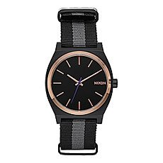 Кварцевые часы Nixon Time Teller Black/Rose Gold/Charcoal
