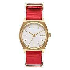 Кварцевые часы Nixon Time Teller Gold/White/Red