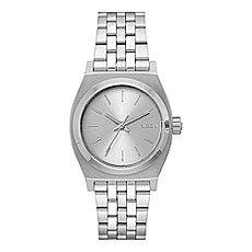 Кварцевые часы женские Nixon Medium Time Teller Silver