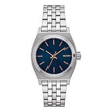 Кварцевые часы женские Nixon Medium Time Teller Navy/Rose Gold