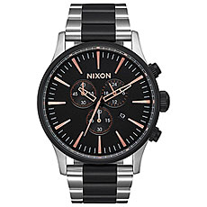 Кварцевые часы Nixon Sentry Chrono Black/Rose Gold