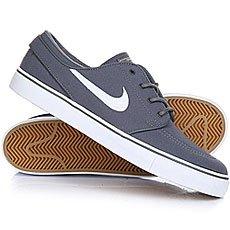 Кеды низкие Nike Zoom Stefan Janoski Cnvs Dark Grey/White
