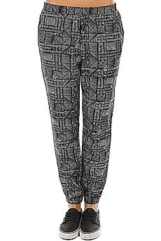 Штаны прямые женские Roxy Easy Peasy Pant Anthracite Beachouse